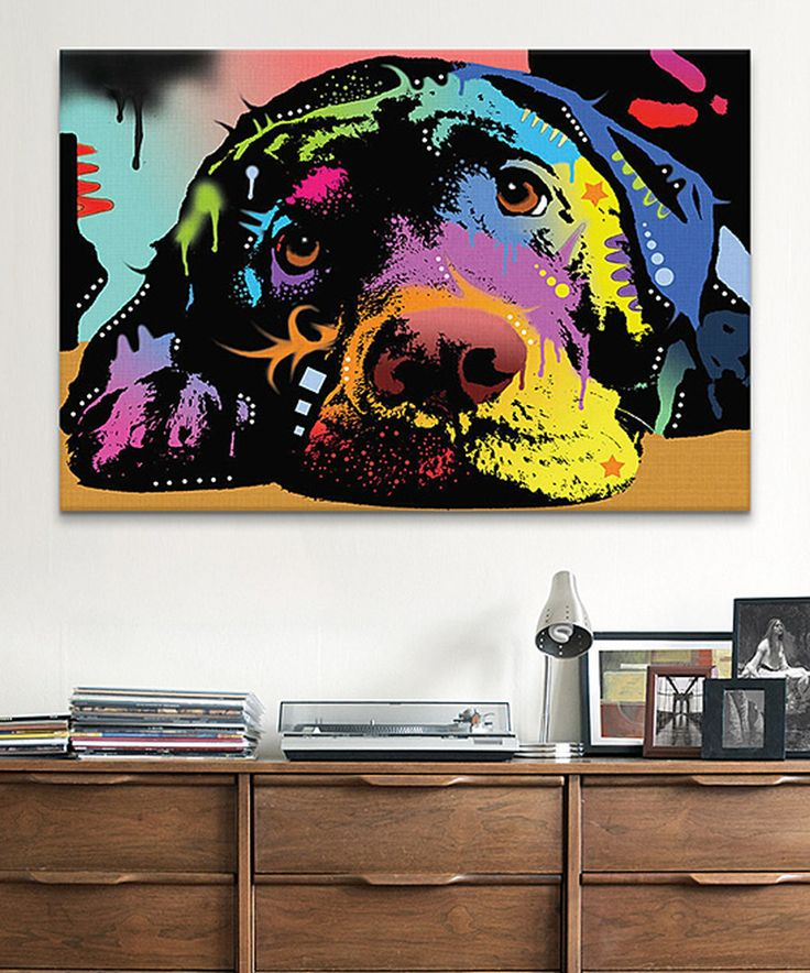 Look at this Lying Lab Wrapped Canvas on #zulily today!