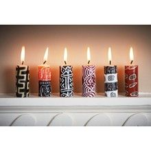 Tribal Mini Dinner Candles - Handmade in Swaziland, Africa by people who are paid a fair wage. £14.00