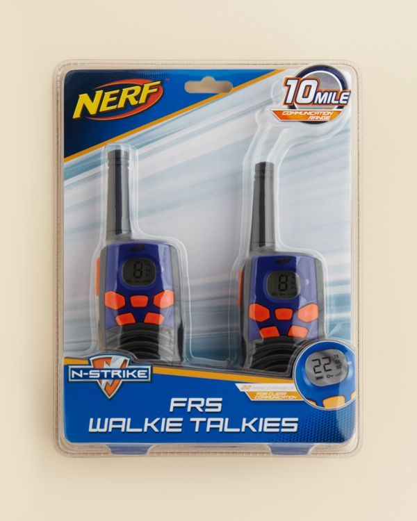 Sakar Nerf Walkie Talkies - Ages 4+ | Imported | Suitable for ages 4 and up | Comes with 2 walkie talkies, 10-mile communication range | Requires 3 AAA batteries (included) | WARNING: CHOKING HAZARD.