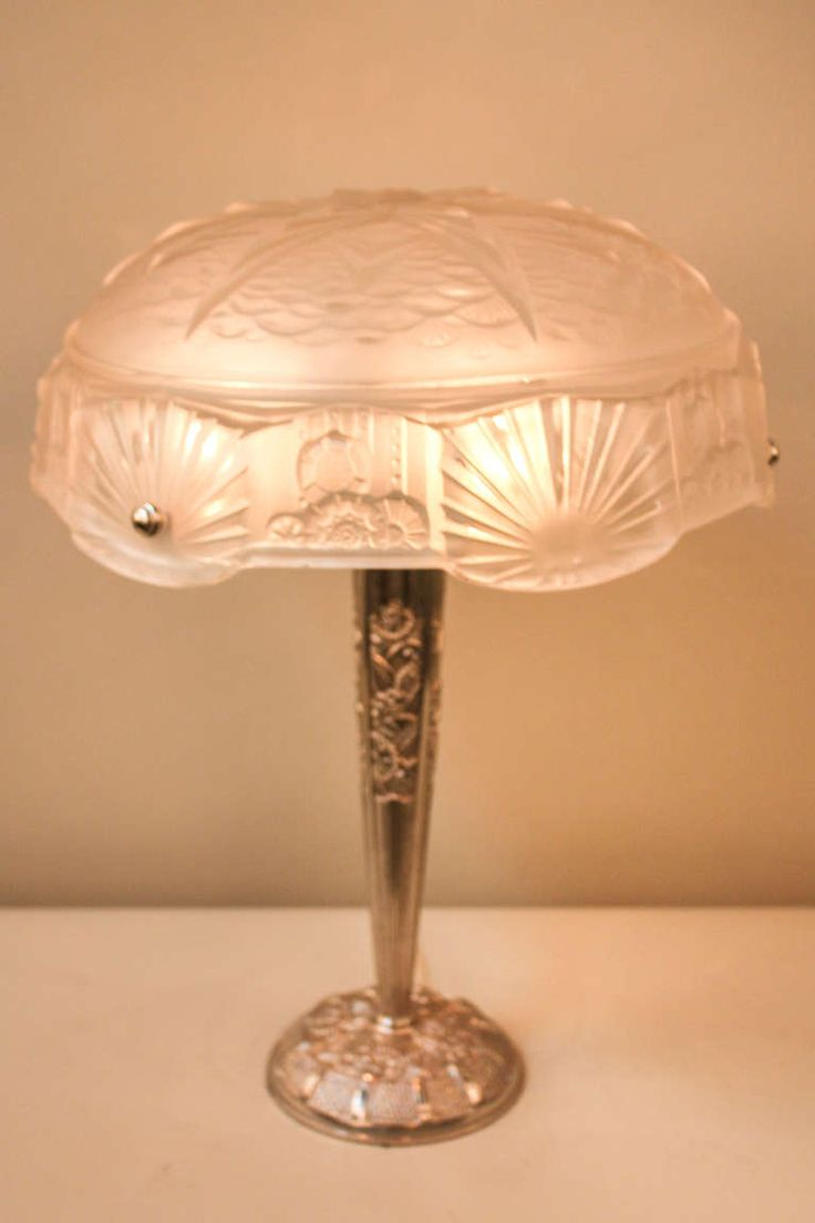 1930s Art Deco Table Lamp by Muller Freres image 2