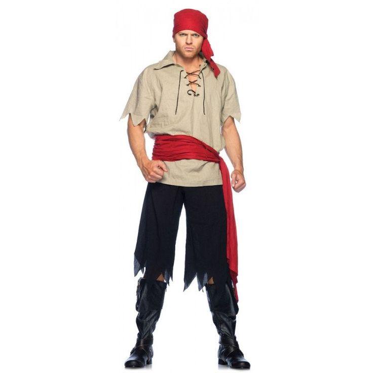 LA83648 Cutthroat Pirate Fancy Dress Costume
