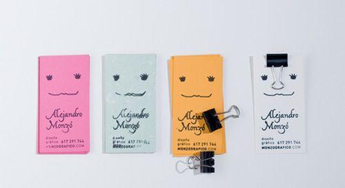 12.handmade business cards キュートだなぁ。