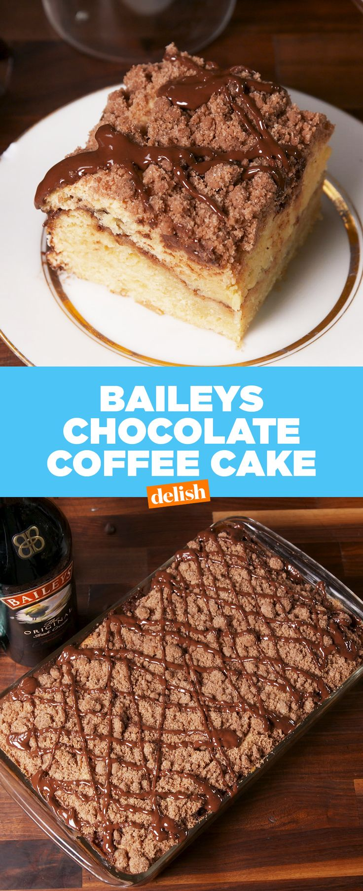 If you love Baileys + Coffee, you're gonna be OBSESSED with this cake. Get the recipe at Delish.com.