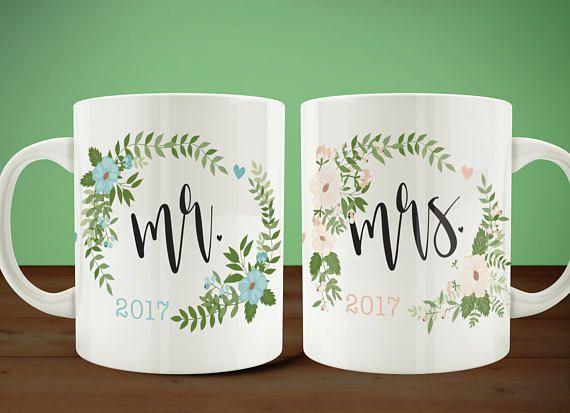Mr and Mrs Couples Coffee Mugs, Bride Groom Mug Set, Couples Mugs, Wedding Gift, Anniversary Gift