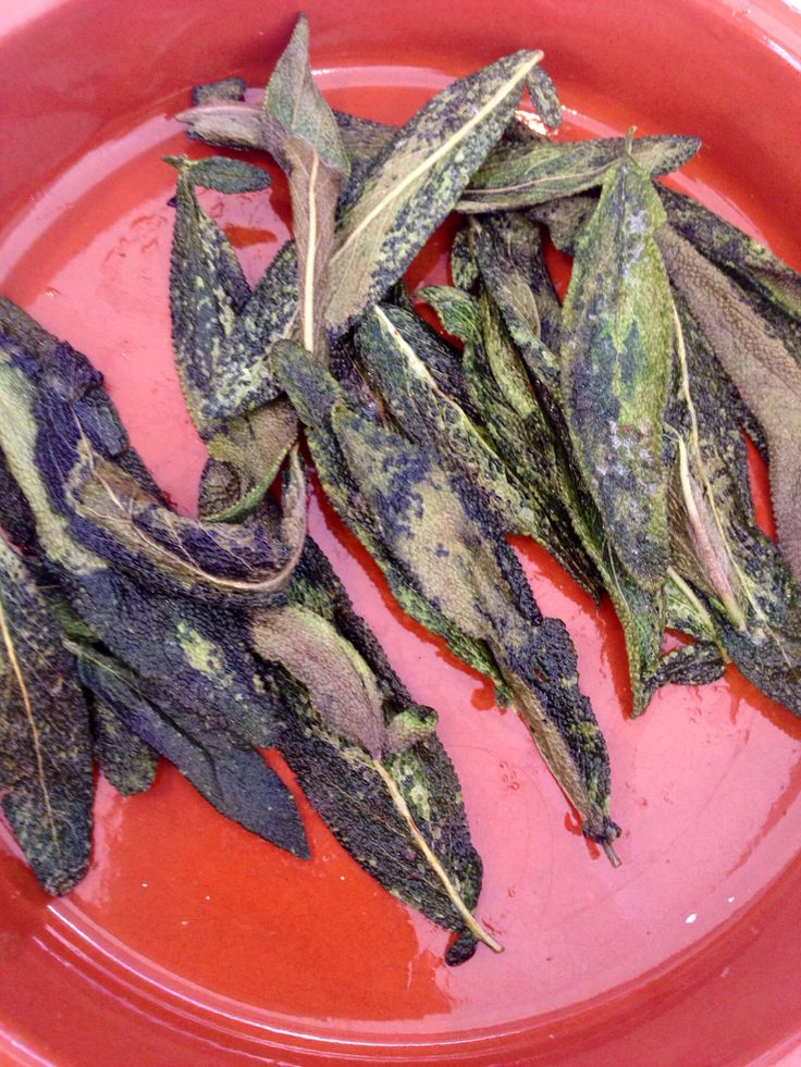 Insanely yum. Burnt butter sage. Home grown. Just so textured and delicious. For tarts ..... ;))