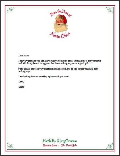 Best 25+ Letter from santa ideas on Pinterest Santa letter, Elf - santa letter template