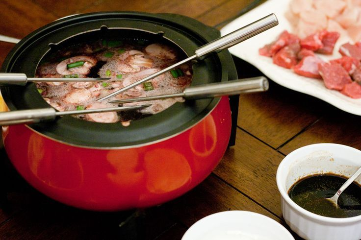 We've done fondue many times this was the BEST ever! Don't use oil ever again. When it comes to