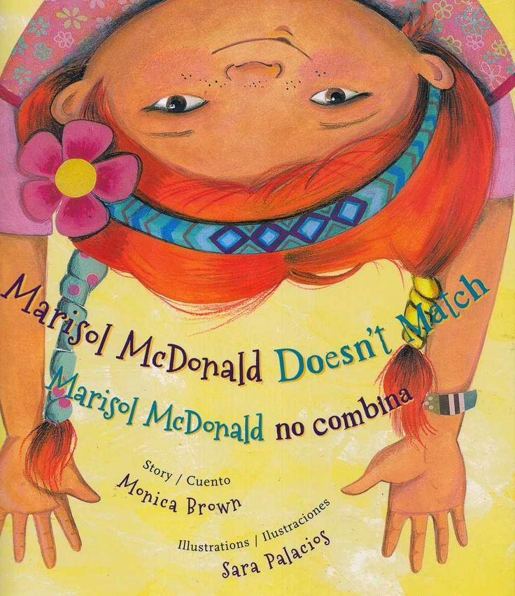 Esta cómica historia se trata de una niña que no combina en varios aspectos de su vida diaria. Su ropa no combina, su forma de comer no combina y su  familia no es como las demás. Ella viene de un hogar birracial. Durante la historia ella trata de cambiar para complacer a los demás pero se da cuento que esto no la hace feliz. Marisol es única y en este libro ella ensena la importancia de ser único.