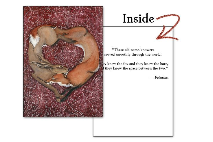 Curious Lovers Greeting Card - Quoted