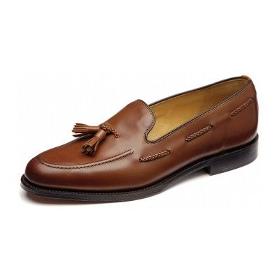Loake Temple mens brown tassel loafer http://www.robinsonsshoes.com/mens-shoes/loake-temple.html