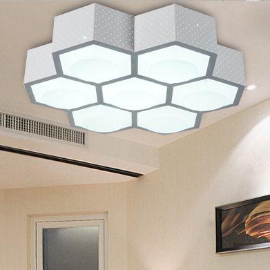 Celular poligonal geometría ornamentos personalizados del pasillo del techo lámpara ahorro de energía led iluminación de