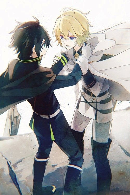Tension••• Owari no Seraph Seraph of the End|| #SeraphOfTheEnd #MikaYuu | Mikaela Hyakuya + Yuichiro #anime