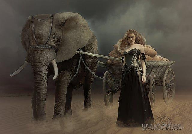 photoshop - Criar uma pintura da fantasia Paisagem …
