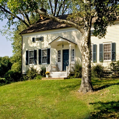Country home design ideas pictures remodel and decor - Colonial house exterior renovation ideas ...