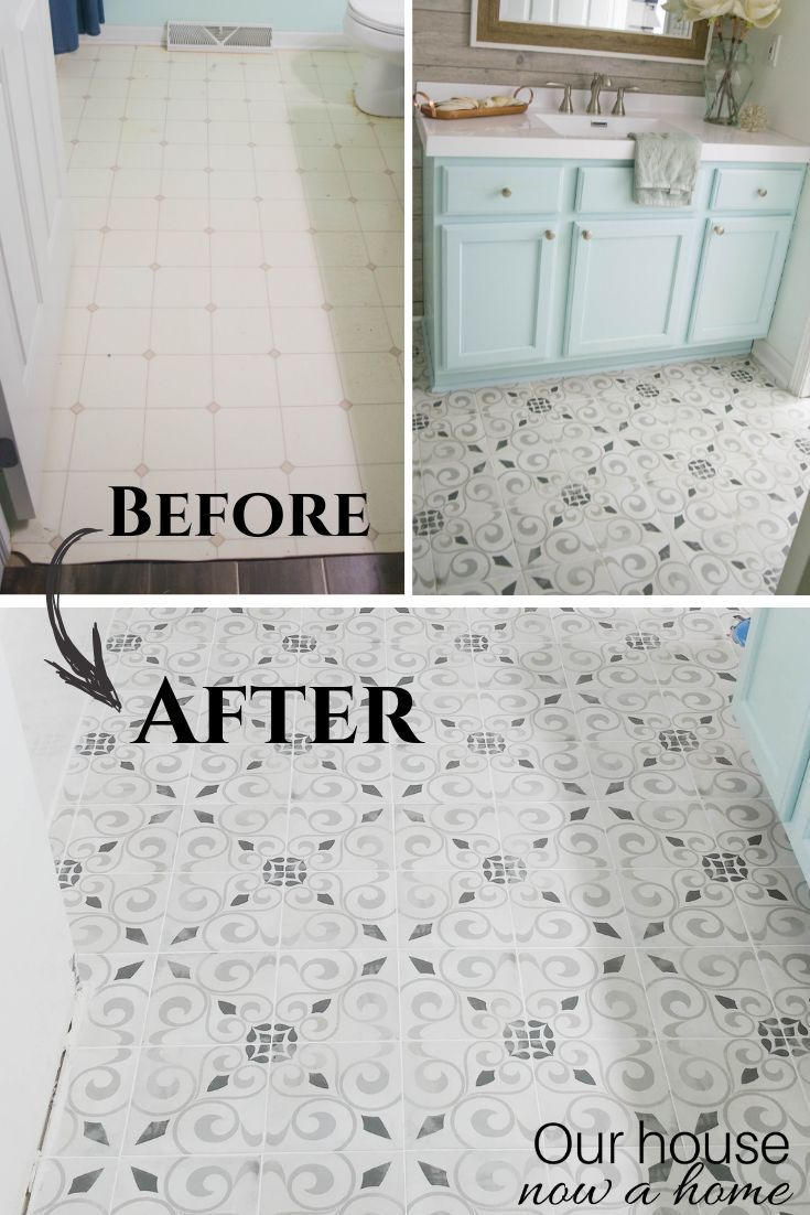 How To Lay Bathroom Tile Our House Now A Home Diy Bathroom Relaxing Bathroom Tile Bathroom
