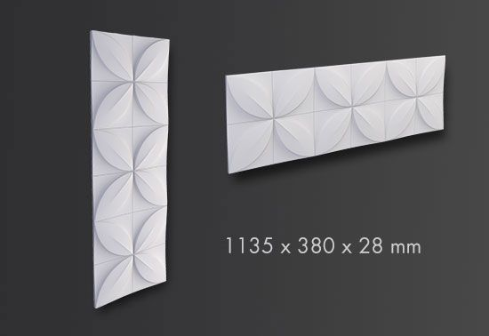 ARSTYL® Wall Panels FLOWER/ H 380 x W 1135 mm / Tmax 28 mm