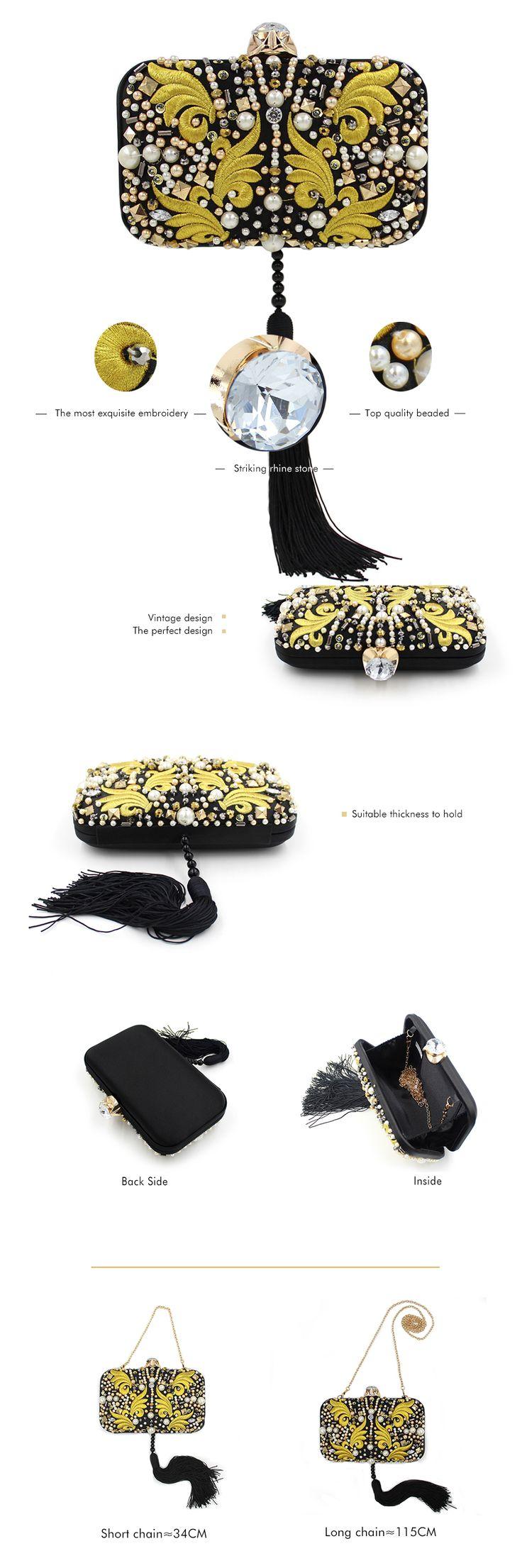 Необычный черно-золотой клатч с длинной кисточкой Больше информации и фотографий по ссылке! #клатч #клатчи #purse #clutch #сумочка #вечернийклатч #театральныйклатч #вечерняясумка #клатчбокс #маленькаясумка #bug #сумка