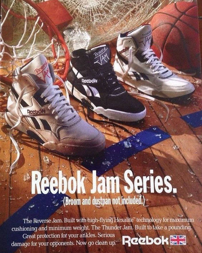 59e1e62ac6 🌪 #REEBOK 🌪 Jam Series ad 1990 #thereversejam | Vintage Ads in ...