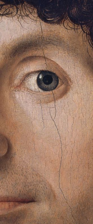 Antonello da Messina, ca. 1472-6, (detail) Portrait of a Man, Oil on panel.quatroccento