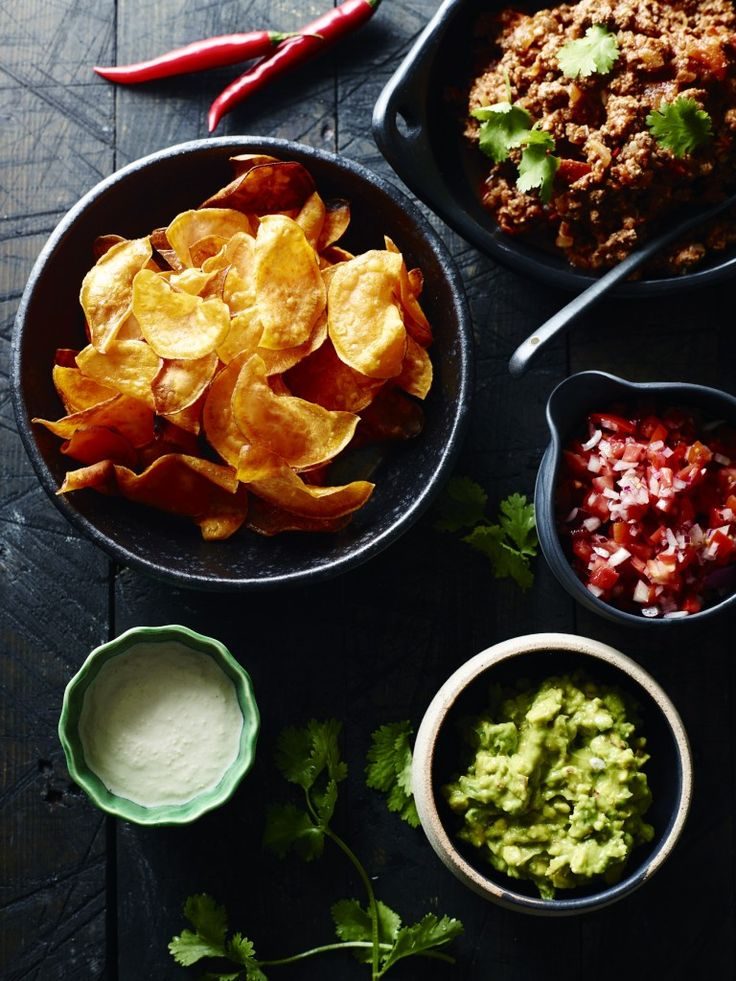 Pete Evans' Paleo Nachos with sweet potato chips recipe