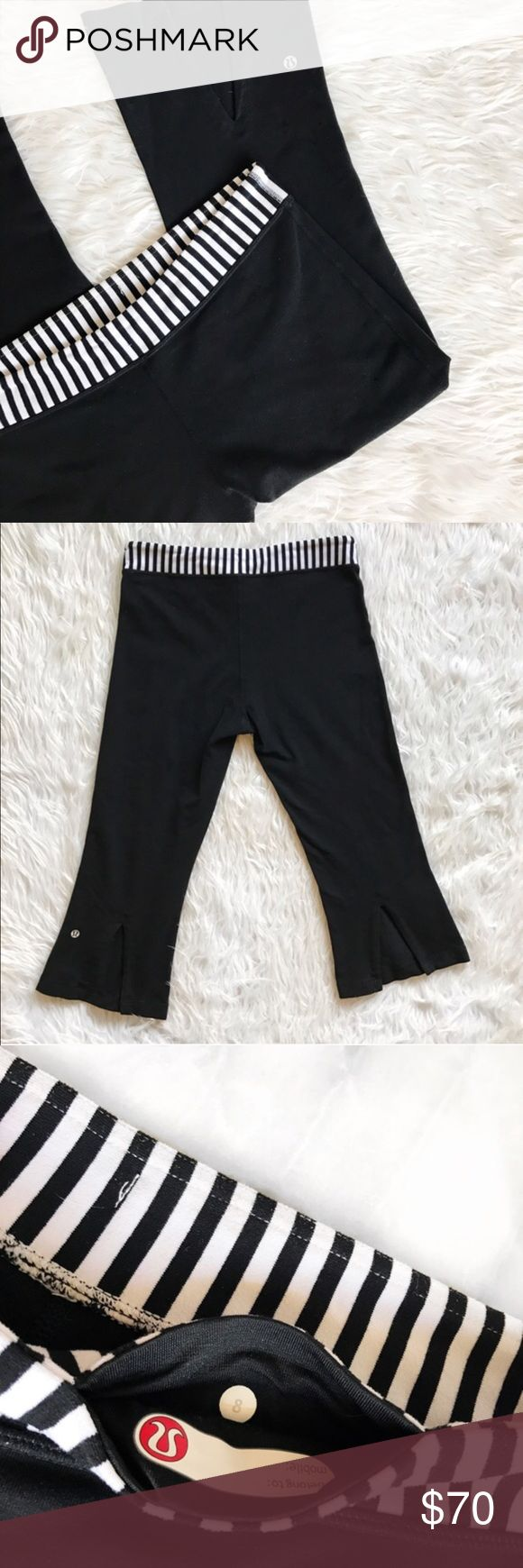 """Lululemon striped crop pants 21"""" inseam.  Used condition. lululemon athletica Pants Ankle & Cropped"""
