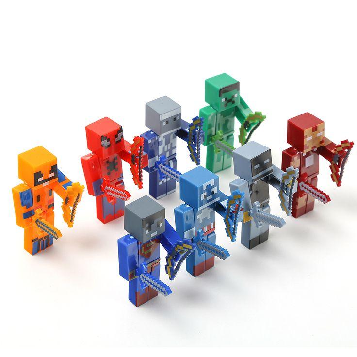 24pcs/lot Minecraft Superhero building block Toy set //Price: $11.00 & FREE Shipping //     #follow