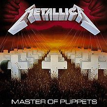Master of Puppets is the third studio album by the American thrash metal band Metallica. It was released on March 3, 1986, making it the group's major label debut. The album peaked at number 29 on the Billboard 200 chart and was the group's first record to be certified gold for sales of over 500,000 copies. Master of Puppets marks the last Metallica album with bassist Cliff Burton, who died in a bus accident while touring to promote the album.