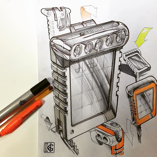 Solar pocket lamp concept #ID #idsketching #designsketching #productdesign #industrialdesign #metu #entas #design #sketch #sketching #sketchaday #sketchbook #sketch_daily #pen #ink #marker #concept #conceptdesign #drawing