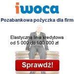 Pozabankowa pożyczka dla firm Iwoca - elastyczna linia kredytowa Iwoca ma siedzibę w Londynie, a w Polsce udziela finansowania małym i średnim przedsiębiorcom. Jest to pozabankowa pożyczka dla firm oferowana w wysokości od 5000 do nawet 100 000 zł, bez zobowiązań i ukrytych opłat, bez