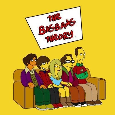 Love this cast!Funny Pictures, The Simpsons, Big Bang Theory, Simpsons Style, Big Bangs Theory, Mr. Big, Parallel Universe, Fans Art, Beckham