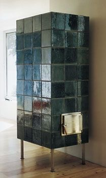 Tiled stove - maybe in white?