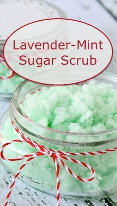 Recipe for a Lavender-Mint sugar scrub using Young Living essential oils. Click/Touch picture to get to the recipe. There are even instructions for making your own natural green food coloring.