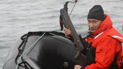 Putin with a crossbow