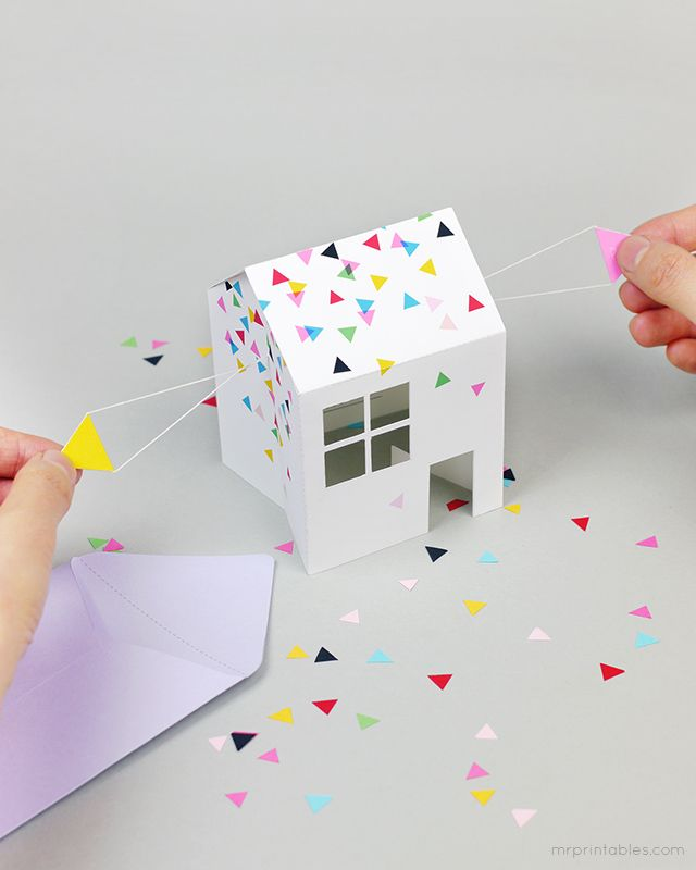 Pop-up House Party Invitation / Mr Printables