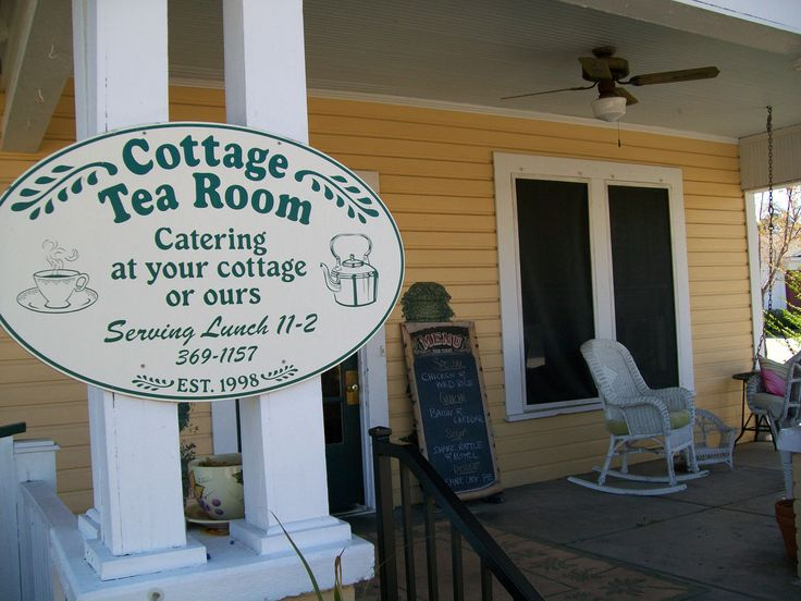 The Cottage Tea Room will delight with their southern cusine, daily specials and award winning recipes. Save room for their Bread Pudding!