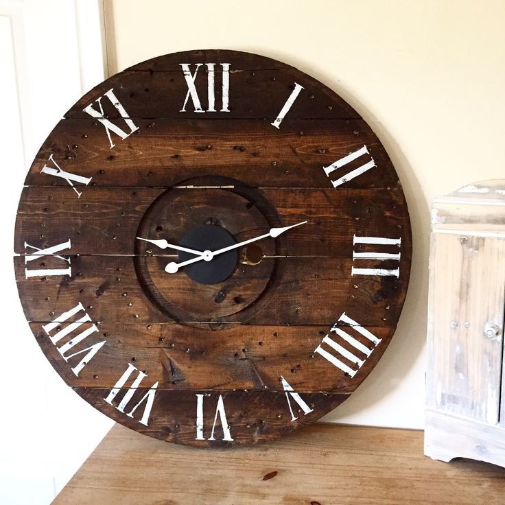 """Vintage Numbers"" is one of the many beautiful rustic clocks we offer at our online boutique.  www.anchored4.com We ship world wide!!!  Sign up for our free Anchor Rewards Program to earn anchor points to get money off purchases or cash in anchor points to get items in our store FREE!!!"