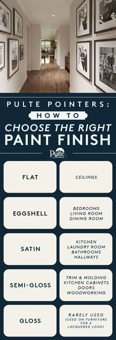 9 Graphs That Will Turn You Into an Interior Decorating Genius like this one. Choosing the right paint finish for the job.
