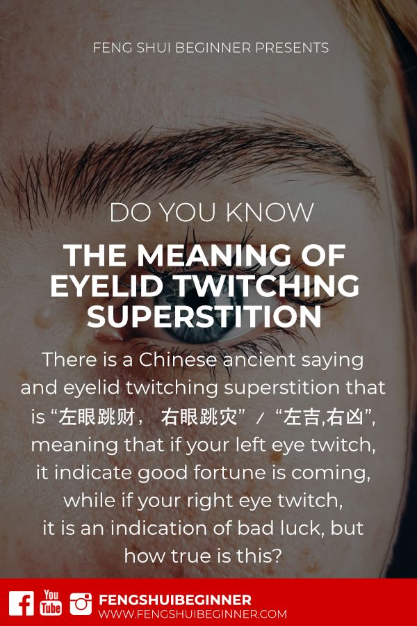 Deciphering Meaning of Eyelid Twitching Superstition