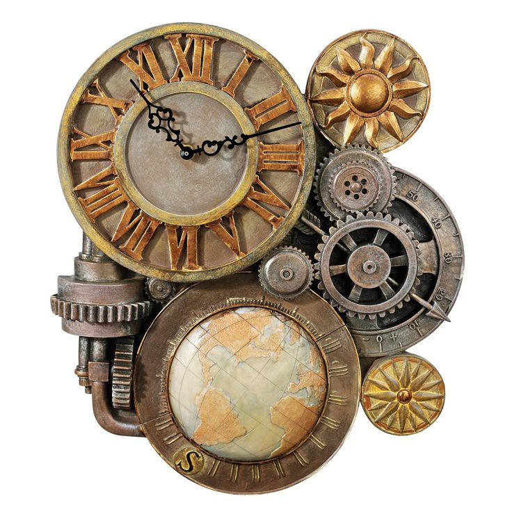 Steampunk Design Toscano Gears Of Time Sculptural Wall Clock Amazing Pictures