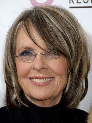 Diane Keaton's high-contrast bob #hairstyles