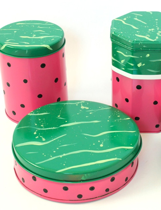 DIY Watermelon Canisters