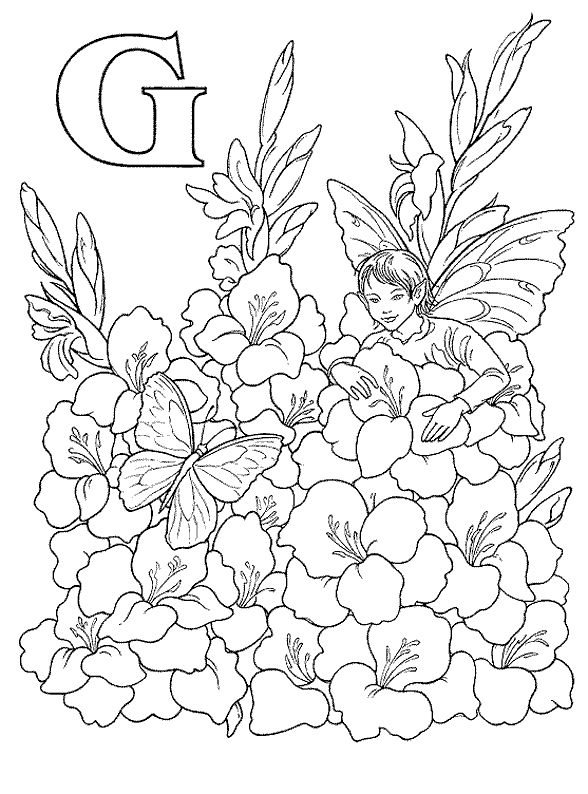 Fairy Alphabet ColoringColouring PagesColoring BooksFree Printable
