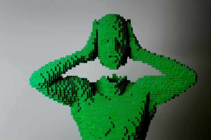 Green, July 2008, 27″ x 70″ x 15″  - The Art of the Brick exhibition of LEGO Bricks art by Nathan Sawaya comes to the Pensacola Museum of Art, May to August.