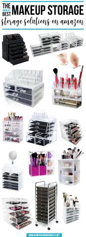 Stop everything you're doing right NOW! You have to check this post out. The ABSOLUTE BEST Makeup Storage on Amazon!