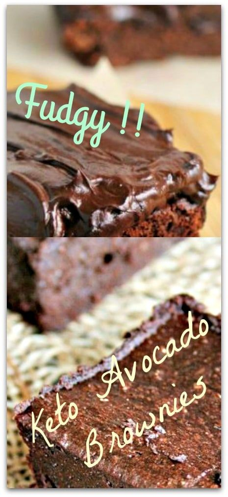 keto avocado brownies: FUDGY AVOCADO BROWNIES WITH AVOCADO FROSTING !! Please Repin #carbswitch