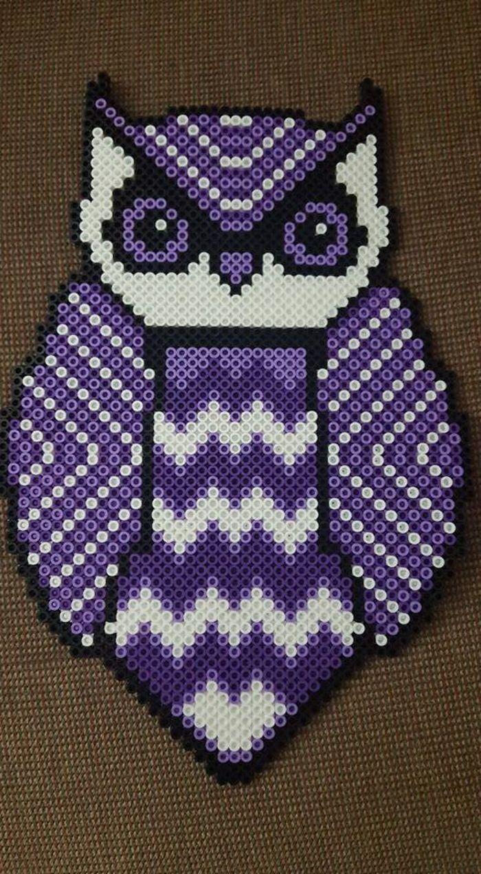 Owl perler beads by LadyRaveicorn