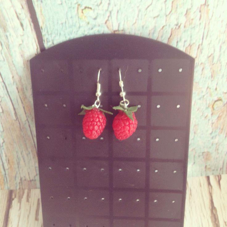 Купить Серьги Ягода малина - серьги, серьги ручной работы, серьги с подвесками, серьги в подарок