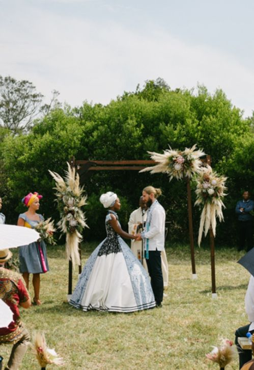 Amanda Dilima and Dennis Jonsson tie the knot in South Africa.