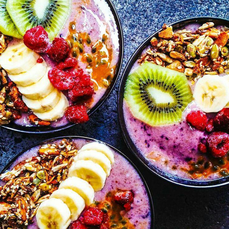 Acai protein bowls  @nomadicfitfoodie
