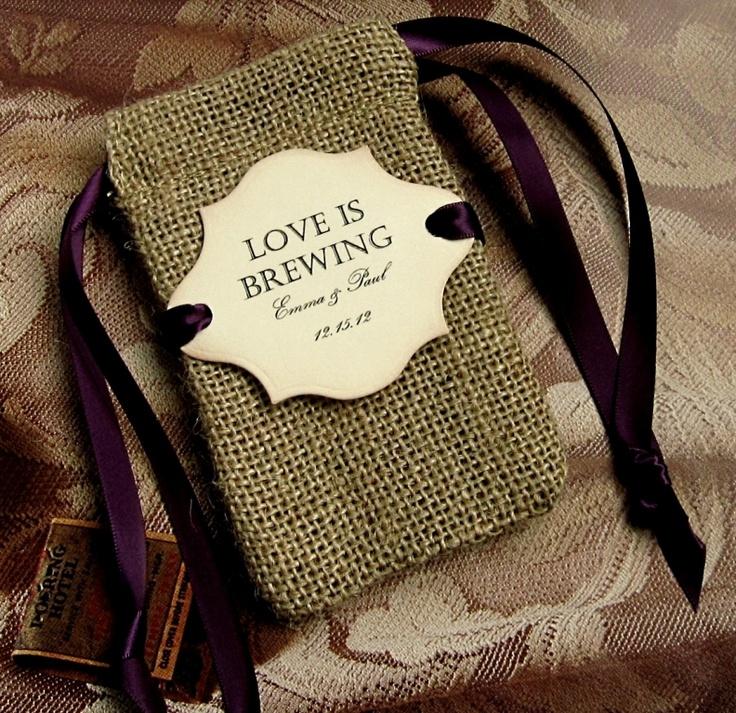 10 Burlap Wedding Favor Bags Personalized By CottageCandies